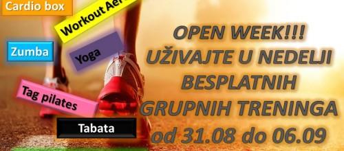Open week!